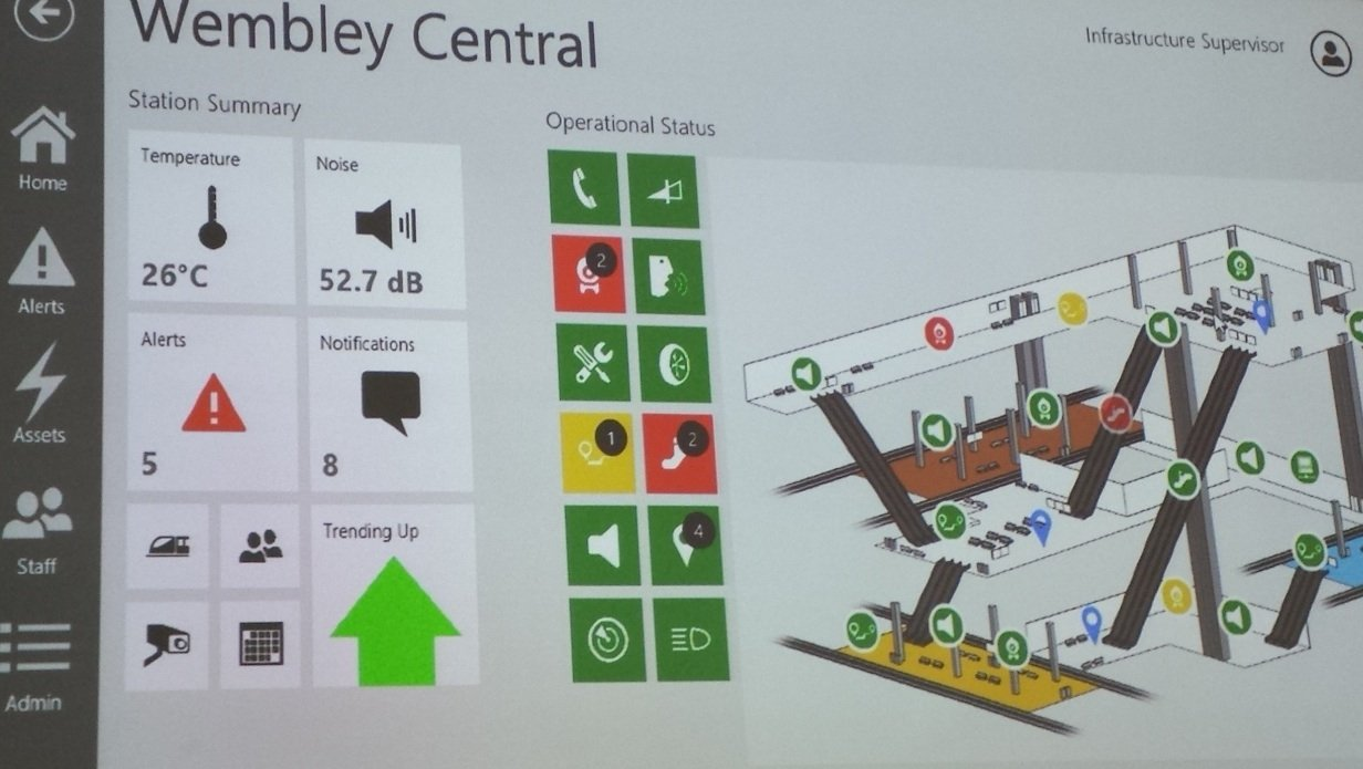 Wembley Station as seen in London Underground's new IoT-inspired management dashboard