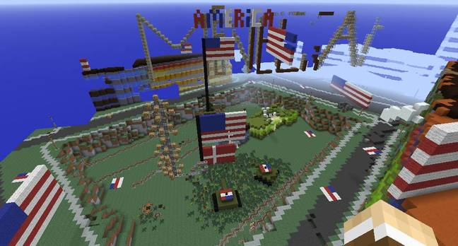 Denmark Minecraft map vandalised