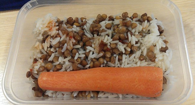 Toby's lentil and carrot surpise