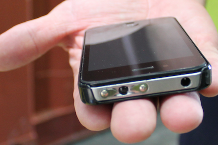 A fake iPhone with electric shock capabilities