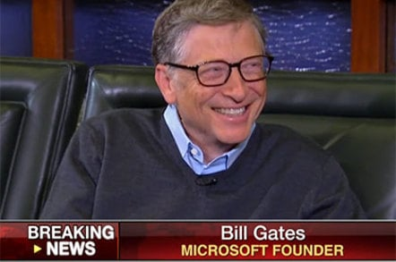 Screenshot of Bill Gates appearing on Fox Business