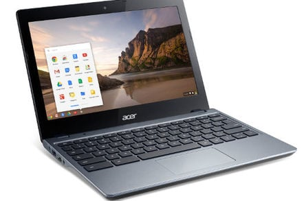 Photo of the Acer Chromebook C720 with 4th generation Intel Core i3 processor