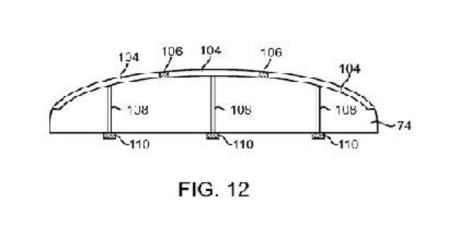 Apple patent on reactive buttons