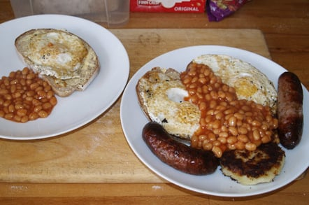 Neil and Anita's fried breakfast on Saturday