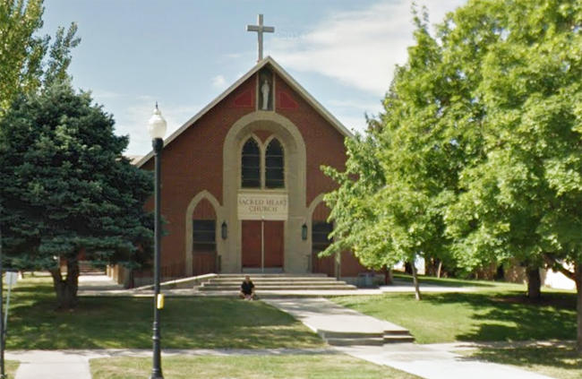 The Sacred Heart Church as seen on Street View