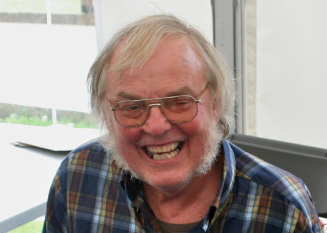 Colin Pillinger at Jodrell Bank in 2009. Photo by Mike Peel
