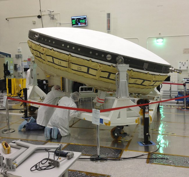 The LDSD at NASA's Jet Propulsion Laboratory. Pic: NASA/JPL