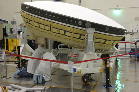 The LDSD at NASA's Jet Propulsion Laboratory. Pic: NASA/JPL
