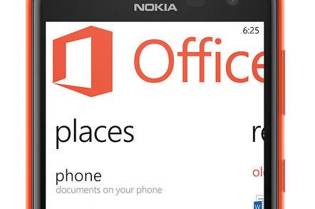 Nokia Lumia 625 displaying Office app