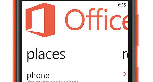 Nokia Lumia 625 displaying Office app