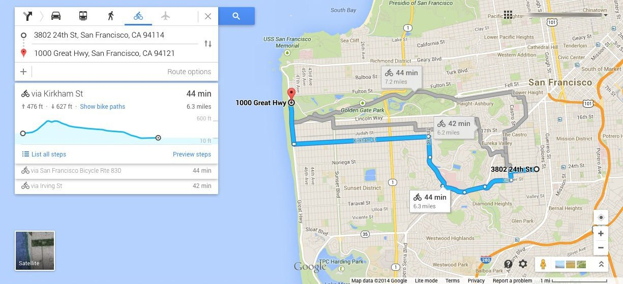 Google Maps can now tell cyclists how HIGH they will get • The