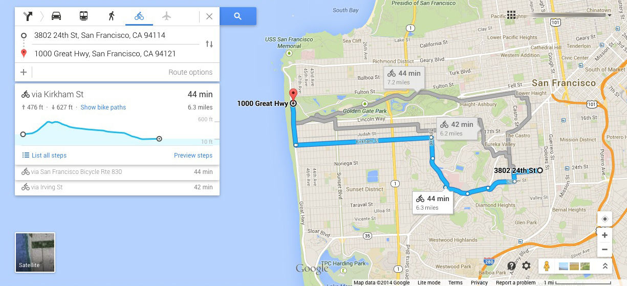 Google Maps Can Now Tell Cyclists How HIGH They Will Get The Register - Map my route google maps