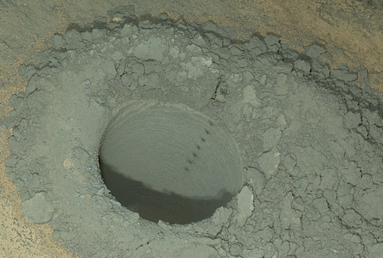 Curiosity Mars rover's latest hole in Mars