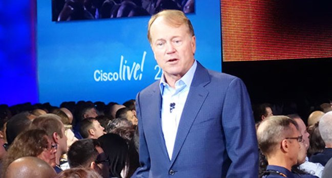 Cisco CEO John Chambers speaking at Cisco Live! 2014