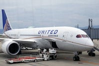 Boeing 787 Dreamliner on the tarmac in United livery