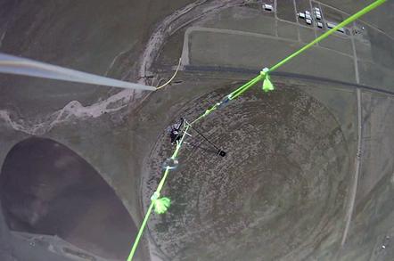 Still from downwards-facing camera on the EDGE 11 flight