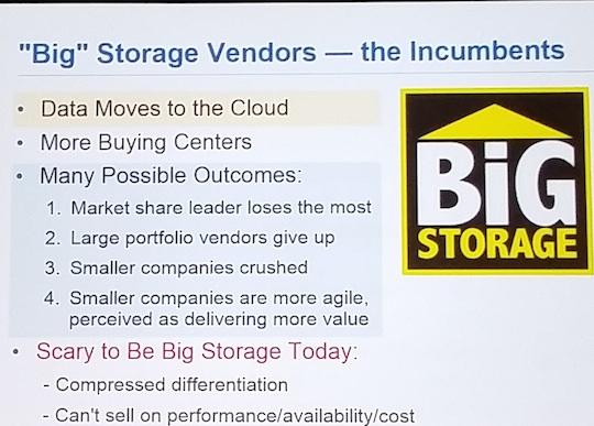 Gartner's scenarios for the future of storage