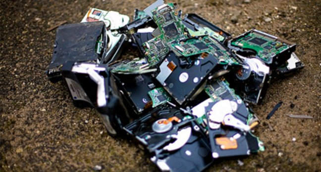 broken smashed harddrives forensics