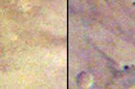 New meteorite crater on mars