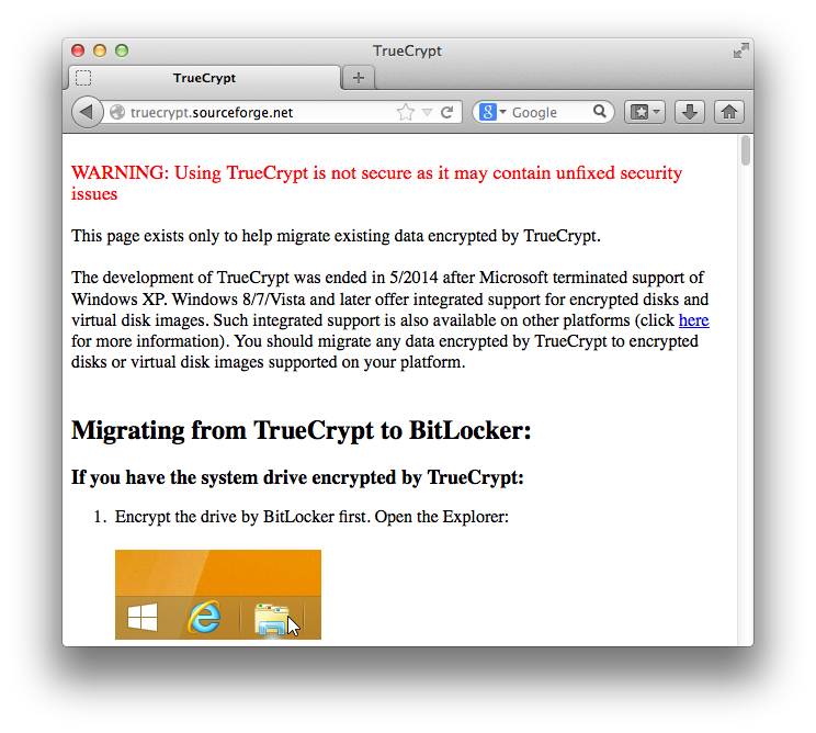 TrueCrypt considered HARMFUL – downloads, website meddled to