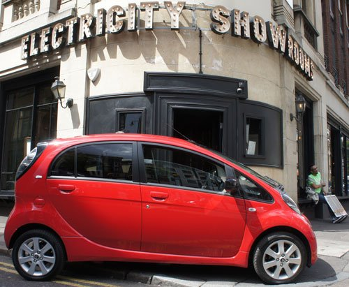 A smart Hoxton cafe, not really an electricity showroom