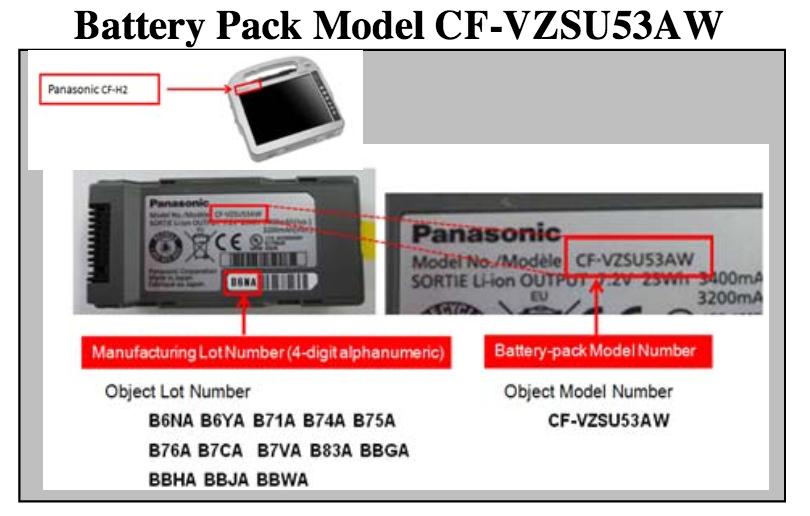 Panasonic Recall detail