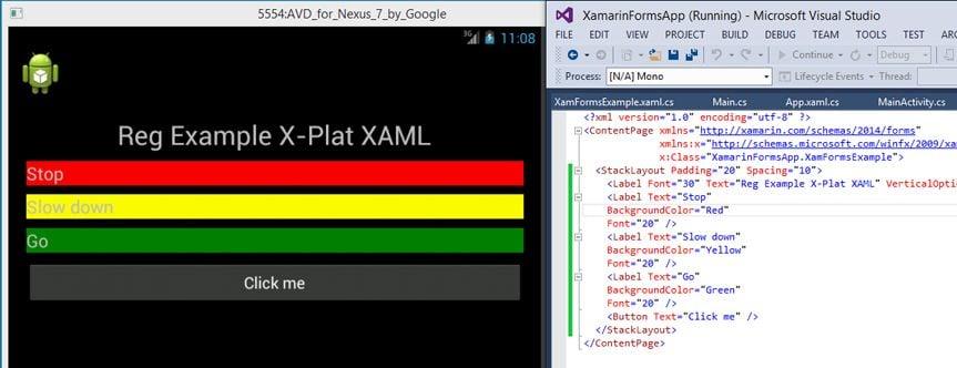 XAML Android