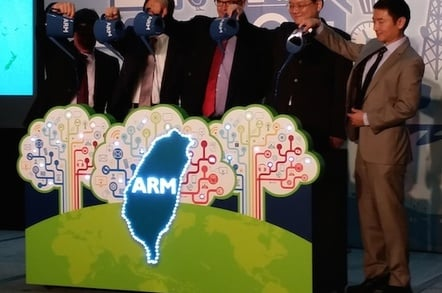 Ceremony to mark ARM's decision to open a CPU dev centre in Taiwan