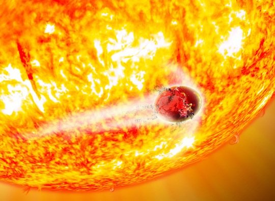 Artist's impression - Death of an exoplanet