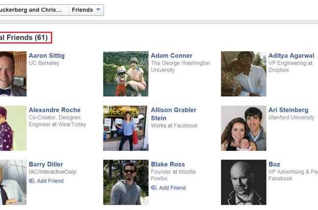 Facebook mutual friends