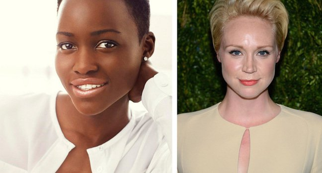 Lupita Nyong'o and Gwendoline Christie