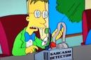 Sarcasm detector Simpsons