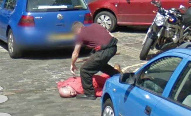The apparent Edinburgh murder caught on Street View