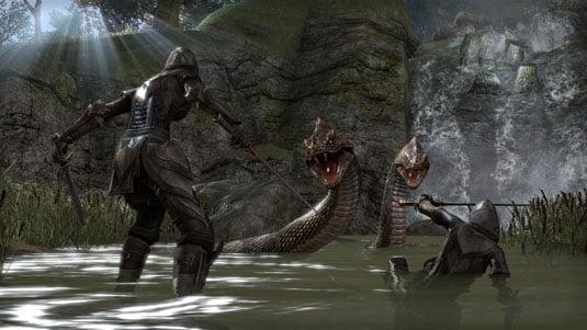 Elder Scrolls online - battling snakes