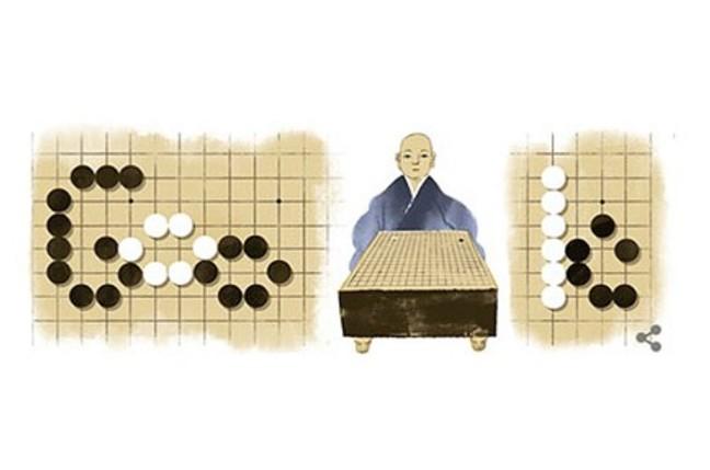 Google Doodle honoring Honinbo Shusaku