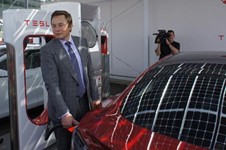 Elon Charges a tesla S