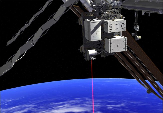 Artist's impression of OPALS firing its laser. Pic: NASA