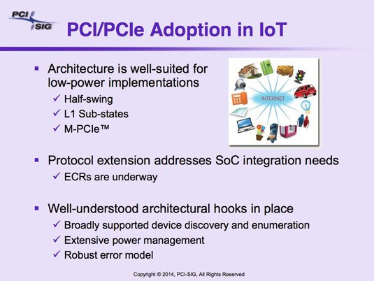 PCI-SIG slide: 'PIC/PCIe Adoption in IoT'