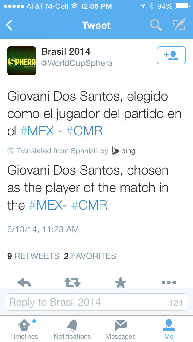 22d123a7796 Twitter for iOS embraces Bing Translate in time for World Cup 2014 ...
