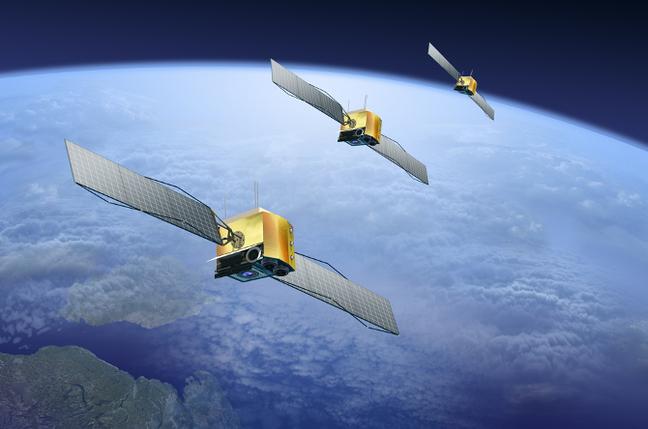 Satellites over Earth