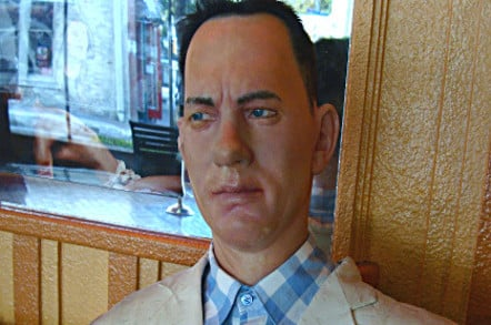 Tom Hanks as Forrest Gump waxwork. Pic: Shawn Perez