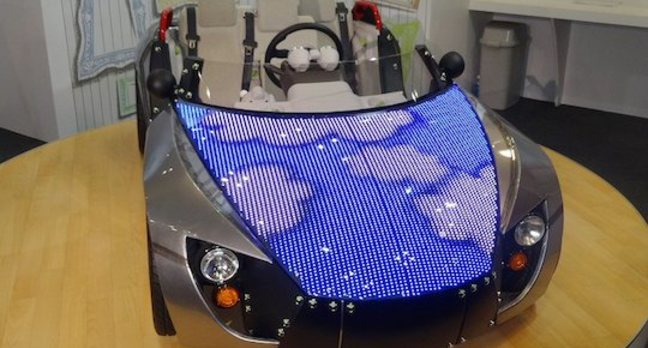 Toyota Camatte concept car with LED screen