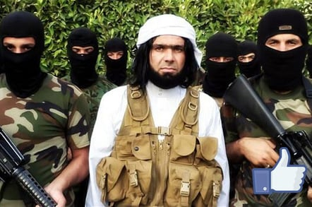 ISIS leader Shakir Wahiyib with Facebook thumbs-up