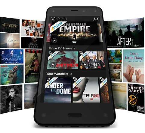 Screenshot of Amazon Prime running on a Fire Phone