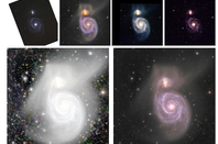 Enhanced images of the M51 galaxy