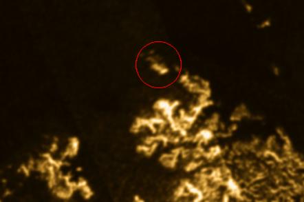 Titan after shot with circle