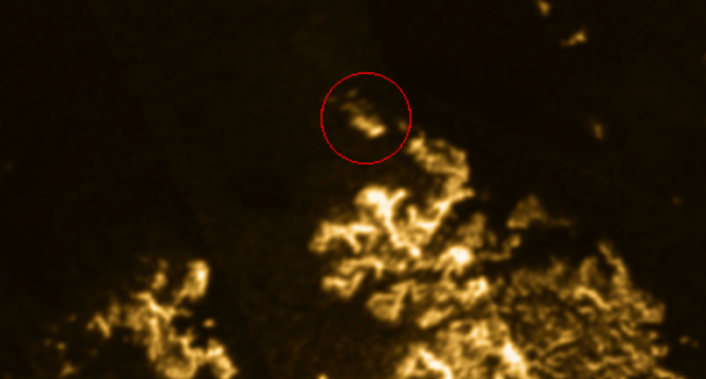 Titan after shot with circle