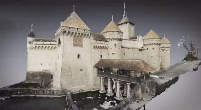 Another view of the 3D virtual Chillon Castle