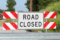 road closed road sign