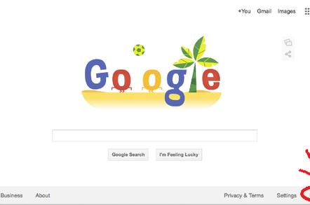 Use google.com button